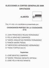 Elecciones generales 2008 Ciudadanos